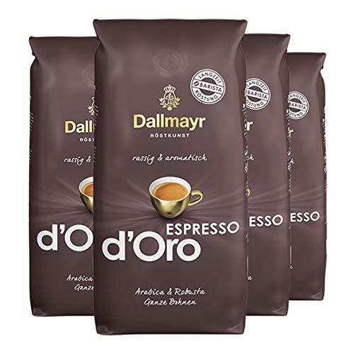 Dallmayr Espresso d'Oro ganze Bohnen 4x 1000g (4000g) - rassig aromatischer Kaffee