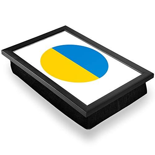 Bandeja de regazo de lujo, cómoda, funcional portátil, puf – mapa de la bandera de Ucrania #9056