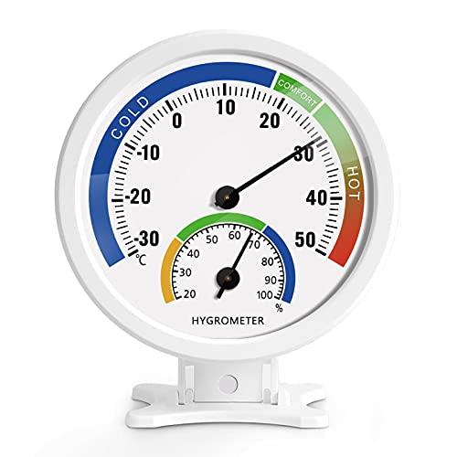 TITACUTE Mini Termometro igrometro Esterno da interiore Esterno - Misuratore di umidità della temperatura del tempo della scrivania da parete per Baby Room Cucina Giardino Serra Humidor Rettile