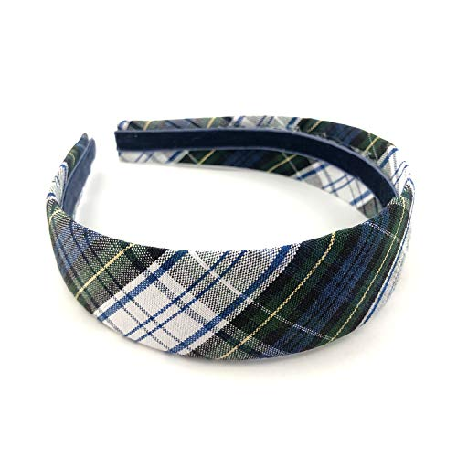School Uniform Wide Headband for Girl Plaid 80