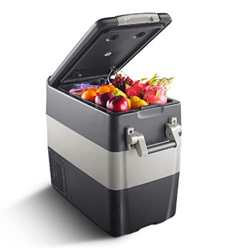 Draagbare autokoelkast, 50 liter, voor in de auto, koelkast, compressor, auto, koelkast, 12 V, 24 V AC, 100-240 V