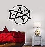 Pared de vinilo símbolo del ateísmo ciencia atómica escuela de arte ateo
