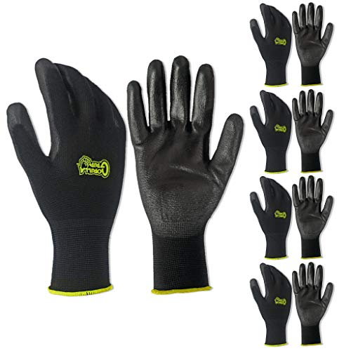 5 PACK Gorilla Grip Gloves - Medium