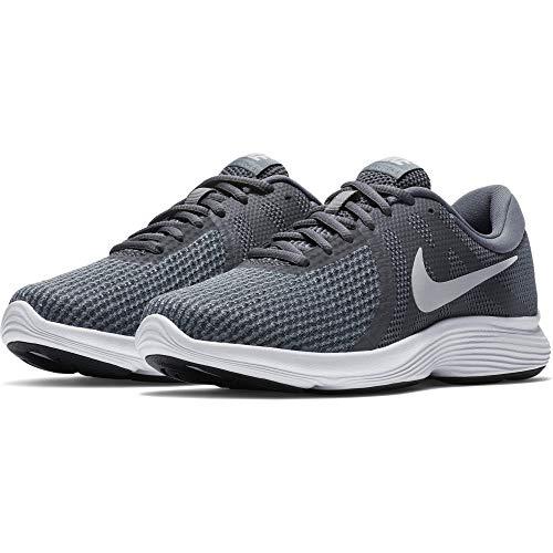 Nike Women's Revolution 4 Running Shoe, Dark Grey/Pure Platinum - Cool Grey, 12 Regular US