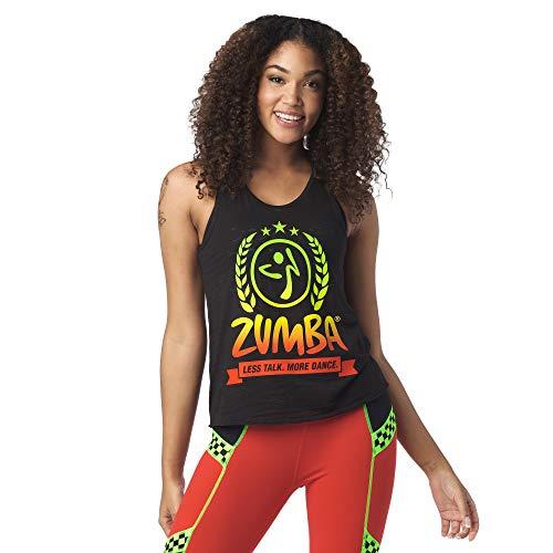 Zumba Aktiv Burnout Dance Workout Kleidung Damen Fitness-Tanktop mit Grafikdruck, Bold Black 9, M