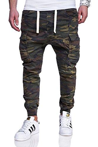 MT Styles Cargo Jogg-Jeans Hose RJ-3188 [Khaki, W32]