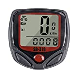 TLOG Bike Speedometer, Waterproof Bike Computer with LCD Display, Auto ON/Off Cycling Odometer, Multi-Function Bicycle Computer for Mountain Bikes, Road Bikes, Electronic Bikes, Folding Bikes, Etc.