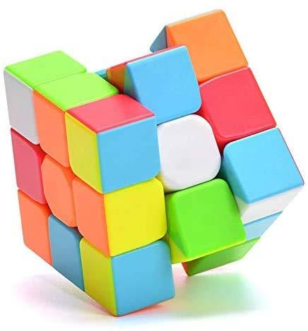 QiYi Cubo mágico Magic Cube 3x3 Turning Smooth Magic Cube 3D Puzzle para niños Twist Brain Teasers IQ Toys