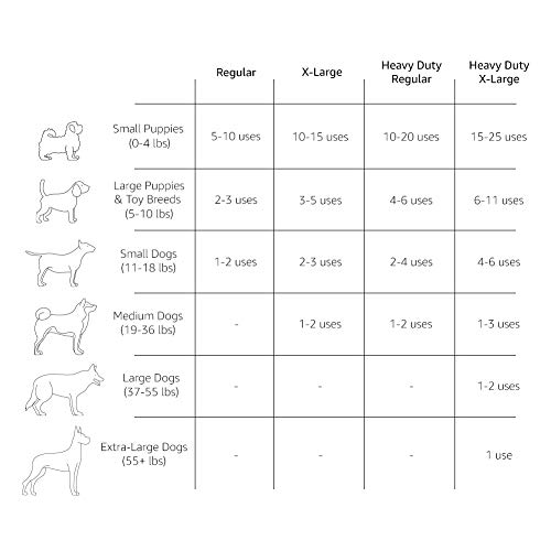 AmazonBasics Dog and Puppy Pee, Potty Training Pads, Regular (24 x 23 Inches) - Pack of 80