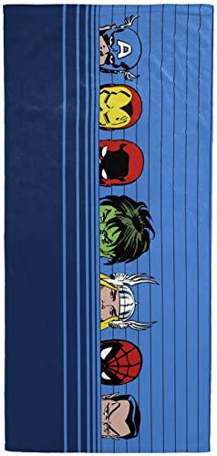 Jay Franco Marvel 80th Anniversary Team Peek Kids Bath/Pool/Beach Towel - Super Soft & Absorbent Fade Resistant Cotton Towel, Measures 28 inch x 58 inch (Official Marvel Product)