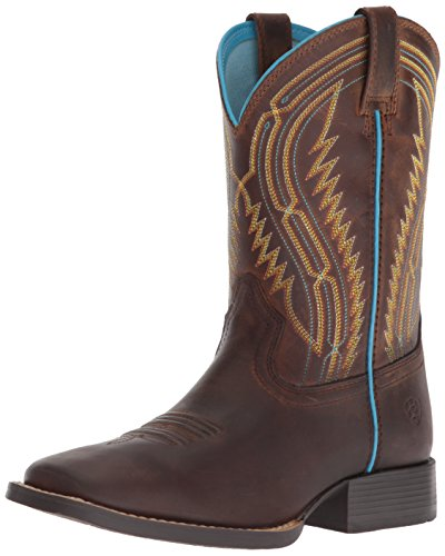 Kids' Baby Desert Diva Western Boot, Distressed Brown, 8.5 M US Toddler