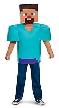 Steve Classic Minecraft Costume Multicolor Large  10-12