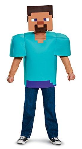 Steve Classic Minecraft Costume, Multicolor, Medium (7-8)