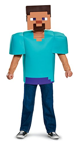 Steve Classic Minecraft Costume, Multicolor, Large (10-12) - http://coolthings.us