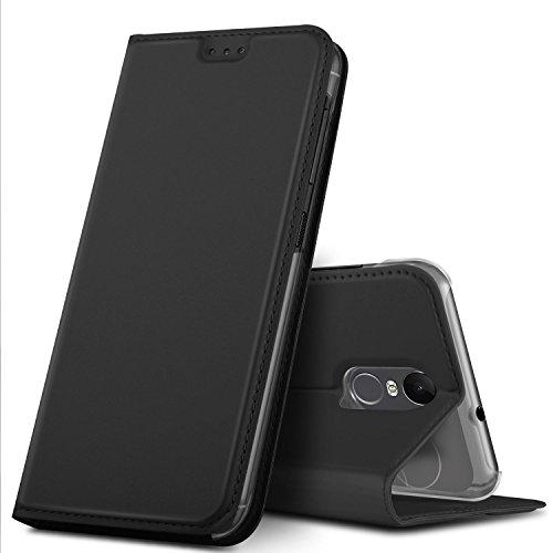 GeeMai Gigaset GS180 Hülle, Premium Gigaset GS180 Leder Hülle Flip Hülle Tasche Cover Hüllen mit Magnetverschluss [Standfunktion] Schutzhülle handyhüllen für Gigaset GS180 Smartphone, Schwarz
