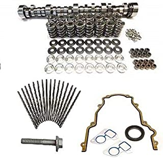 Brian Tooley BTR Turbo LS Stage 1 Cam, Spring Kit with Steel Retainers, Chromoly Pushrods and Install Gasket Kit LS1 LS2 LS3 LQ4 LQ9 LM7 4.8 5.3 6.0 6.2 (Camshaft, Springs and Gasket Kit)