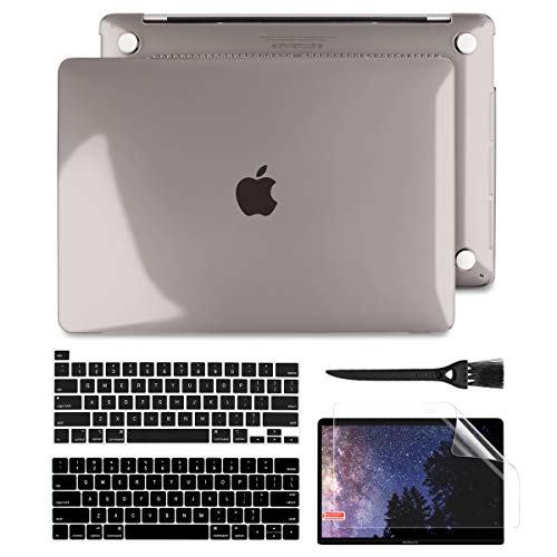 Batianda for MacBook Pro 13 2020 2019 2018 2017 2016 Case (A2251/A2289/A2159/A1989/A1706), Plastic Crystal Hard Shell Cover Case for New MacBook Pro 13 inch Touch Bar with Retina Display, Grey