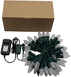 Holiday Outdoor Led String Lights, C9 Sized Bulbs, Long Life Up to 50000Hours, RGB Color can be Changed, Dimmable, UL Listed Driver, Ideal for Christmas Tree, House, Garden, Lawn, Patio, Party