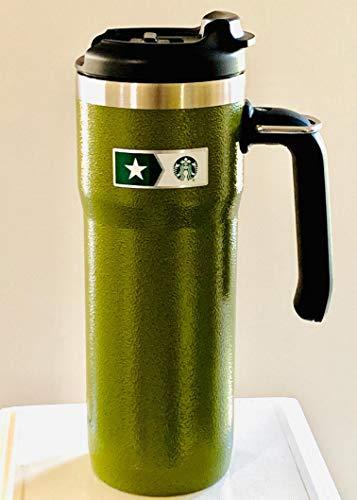 Starbucks + Stanley Military Commitment Doppelwandiger gehämmerter Edelstahlbecher mit Griff