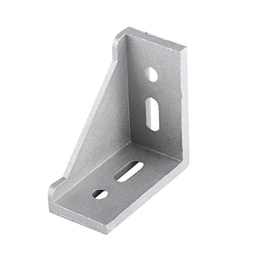 Eckwinkel, 2020 Aluminium, 10 Stück, 20 x 20 x 17 mm, L-förmig, rechter Winkel, für stranggepresste 20-mm-Aluminiumprofile, TRTA002675