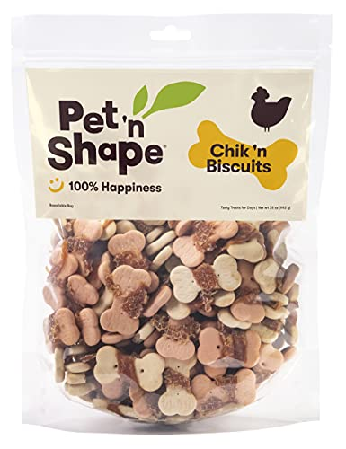 Pet 'n Shape Chik 'n Wrapped Biscuits – Natural Chicken Wrapped Dog...