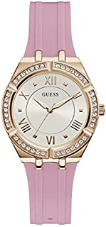 Guess Sport Watch for Women, Stainless Steel Case, White Dial, Analog -GW0034L3
