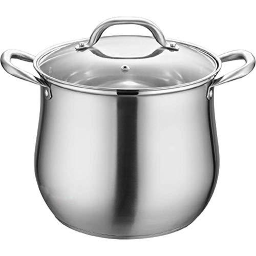 TFJJSQA Especial/Simple Olla de Sopa de Acero Inoxidable de la casa, Extra Alta con Doble Fondo y Grueso Cocinero Cocinero Utensilios de Cocina ollas de Cocina Caliente (Size : 22cm)