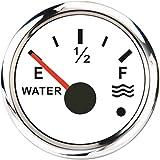 KAOLALI Indicador de Nivel de Agua, Medidor de Nivel de Agua para 0~190 ohm Sensor de Agua(Blanco)