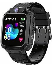 linyingdian Kids Smartwatch, Girl IP67 Smart Watch, LBS, Call, Voice Chat, SOS, Class Mode, Camera, Games, Gift voor kinderen van 3-12 jaar, ondersteuning voor 2G Micro SIM-kaarten (volledig zwart)