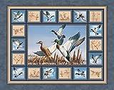 Walden Teich Enten Baumwolle Quilten Stoff Panel Wand