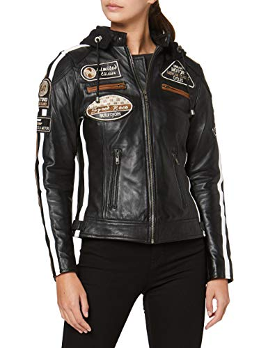 Urban Leather 58 Veste de Moto avec Protections -...