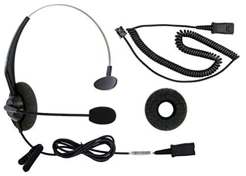 DailyHeadset RJ9 NC Duo Office Phone Corded Headset for Analog Office Landline Phone Aastra Avaya Nortel Polycom Mitel ShoreTel Digium AltiGen Packet 8 TalkSwitch Telephones