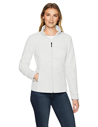 Amazon Essentials Full-Zip Polar fleece-outerwear-jackets, light grey heather, XL