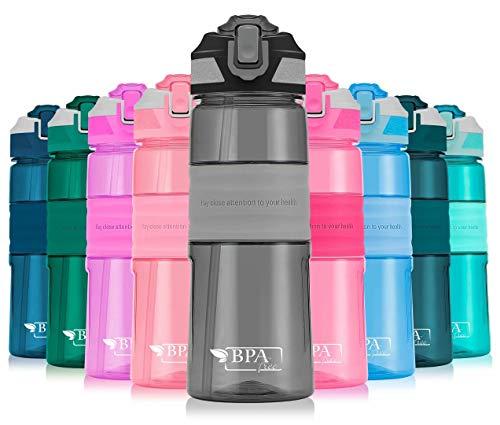 Tinybly ボトル 水筒 ポータブルストロースポーツウォーターボトル 450ml 650ml 1000ml BPAフリー プラスチックウォーターボトル 自転車 大人 子ども アウトドア スポーツ 登山用/キャンプ/ランニング/ジム/…