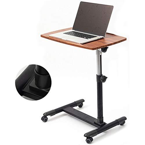 SWTY Betttisch auf Rollen & Betttisch, Tabletttisch, Verstellbarer Sofa-Beistelltisch, tragbarer Schreibtisch mit Rädern, Laptop-Wagen, Senioren, Patientenhilfe, 40 × 60 cm
