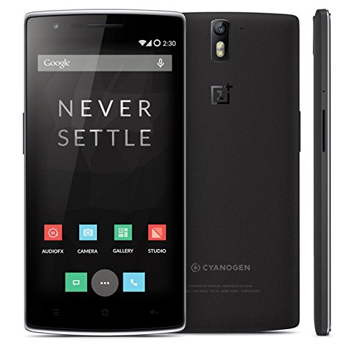 OnePlus One Smartphone CyanogenMod 11S Android Qualcomm Snapdragon RAM 3Gb Rom 64Gb LTE NFC Nero