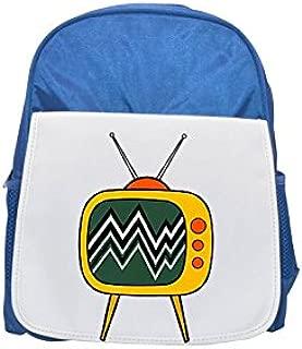 Fotomax Old TV Cartoon Printed Kid 's Blue Backpack, Cute Backpacks, Cute Small Backpacks, Cute Black Backpack, Cool Black Backpack, Fashion Backpacks, Large Fashion Backpacks, Black Fashion Backpack