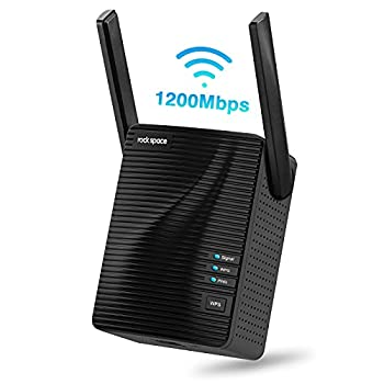 rockspace WiFi Range Extender - AC1200 Dual-Band and Double-Antennas WiFi Repeater  2020 1200RPT  Equipped with WPS Button & Ethernet Port Supports Both Wired and Wireless Connection