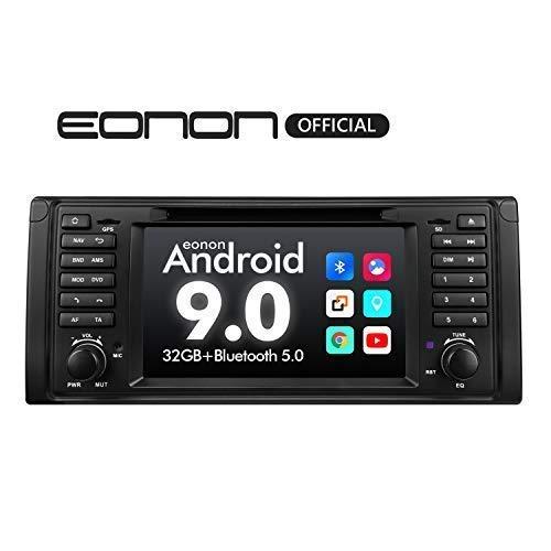 eonon GA9349 Autoradio mit Android 9 fit BMW E39 1995-2002 2GB RAM 32GB ROM Quad-Core 17,8 cm (7 Zoll) LCD Touchscreen DVD GPS Bluetooth USB FM unterstützt Lenkradsteuerung 4G WiFi DAB+