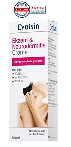 Evolsin Ekzem & Neurodermitis Creme, Lotion, Salbe für gereizte, trockene, juckende und irritierte Haut I Heilt die Haut & lindert Juckreiz I Patentierte Wirkweise I KORTISONFREI