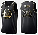 WSUN Camiseta De Baloncesto De La NBA - Warriors 30# Stephen Curry Camisetas De La NBA para Hombre - Camiseta Deportiva De Baloncesto Sin Mangas Transpirable De Ocio,A,M(170~175CM/65~75KG)