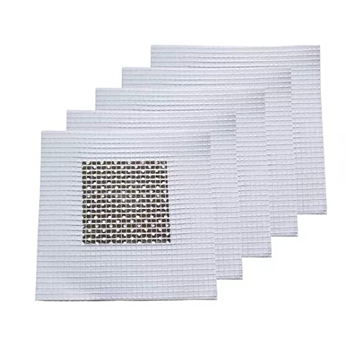 5 Pieces 2 Inch Wall Patch Repair, Drywall Repair Patch Self Adhesive Drywall Patch and Fiberglass Repair Kit, Heavy Duty Dry Wall Hole Repair Patch for Drywall Plasterboard (2 x 2 Inch)