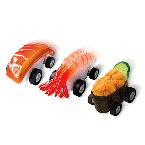 寿司Boon 3個パック サーモン 甘海老 うに軍艦 食品サンプル おもちゃ プルバックカー 職人手作り チョロQ ミニカー お寿司 プレゼント 外国人 歓送迎会 景品 フェイクフード