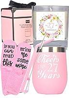 27歳の誕生日ギフト 女性用 27歳の誕生日 27歳の誕生日のタンブラー 27歳の誕生日のデコレーション 27歳の女性へのギフトに 27歳になる女性への誕生日プレゼントアイデア