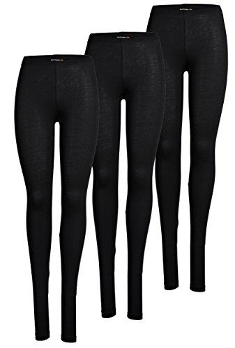 ONLY 3er Pack Leggings für Damen in schwarz - Blickdicht - Für Freizeit, Sport, Yoga oder Fitness aus 95% Baumwolle 15209151 (S, Schwarz (2017))