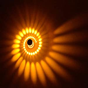 Coocnh 3W LED Lámpara de Pared Aluminio Apliques de Pared Baño Lámpara Moderna Pared Stahler Efecto Baño Lámpara de Piso…