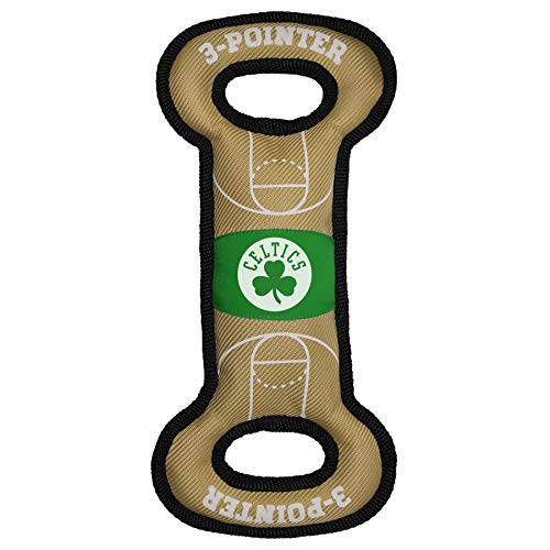 Pets First NBA Boston Celtics Field Toy. - Tough Nylon Pet Toy with Double Trim Stitching & Inner Squeaker, One Size, CEL-3030