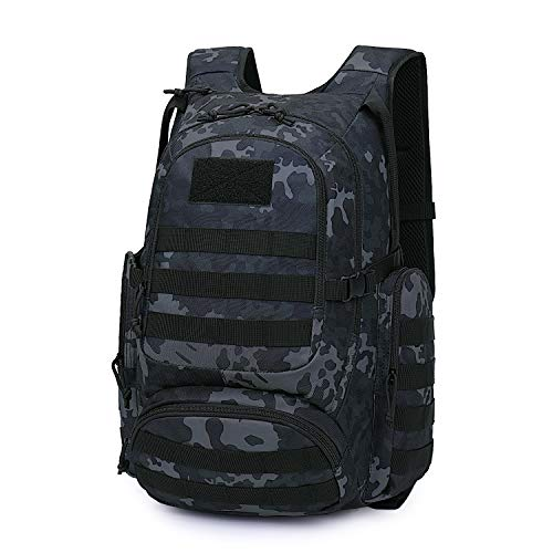 Mardingtop 25L Tactical Backpacks Molle Hiking daypacks for Camping Hiking Military Traveling Motorcycle Black Multicam