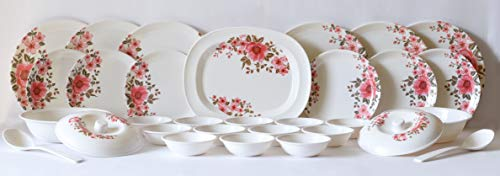 Utensza 31 Pcs Melamine Dinner Set (Pink)