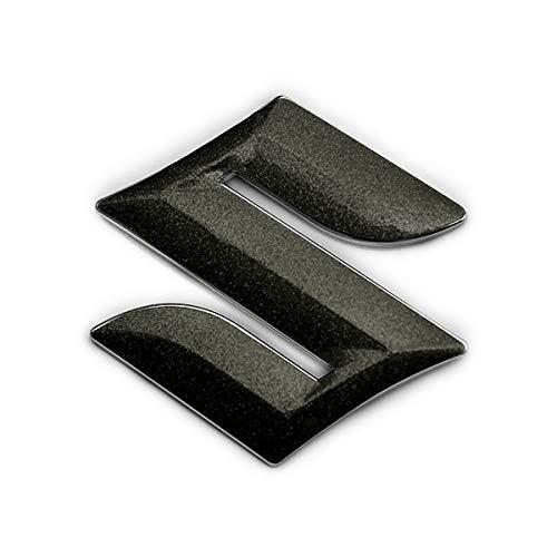 BATBERRY エンブレムフィルム [EFZ05m] スズキマーク(粗目メタリックブラック) ステアリング スペーシアカスタム MK53S ハンドル用メタリックフレークシート■高さ45mmのエンブレムに対応